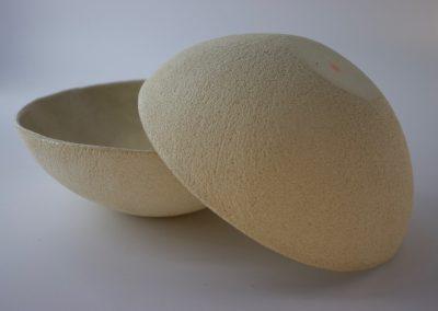 assiette creuse grés blanc carole cadet caolin